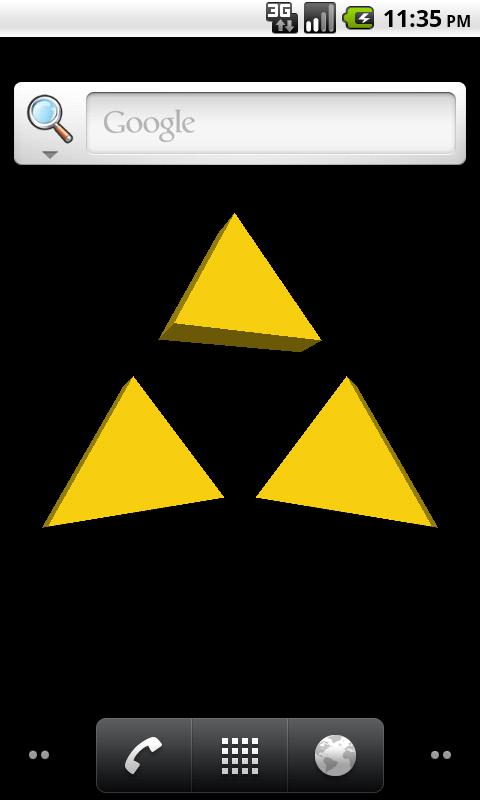 Triforce Live Wallpaper - screenshot