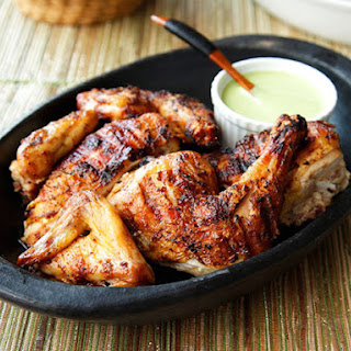 Peruvian Style Grilled Chicken With Green Sauce