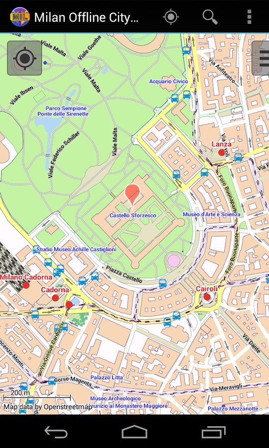 Milan Offline City Map- screenshot