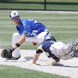 Play at Second by Marc Wahrer - Sports & Fitness Baseball (  )