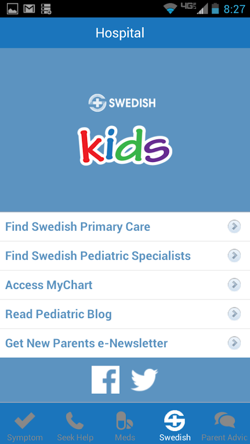 Swedish Kids Symptom Checker - screenshot