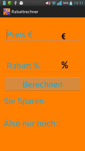 Rabattrechner Werbefrei
