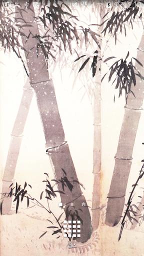 수묵대나무명품배경