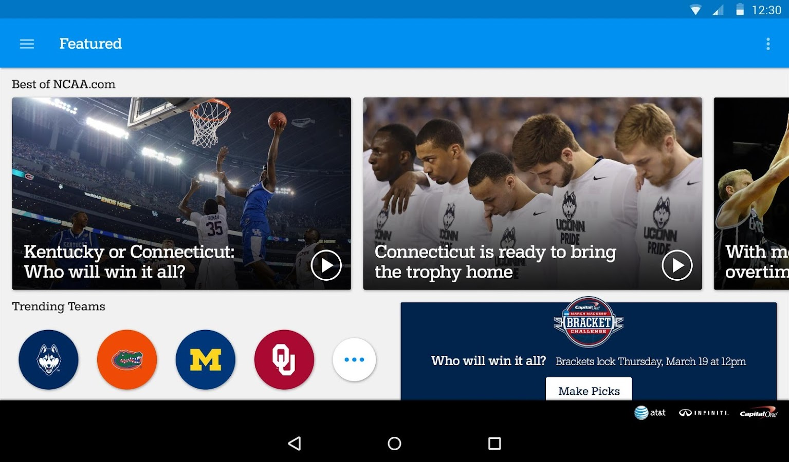 NCAA March Madness Live - screenshot