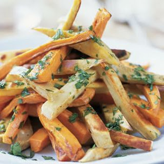 Roasted Sweet Potatoes with Cumin and Cilantro