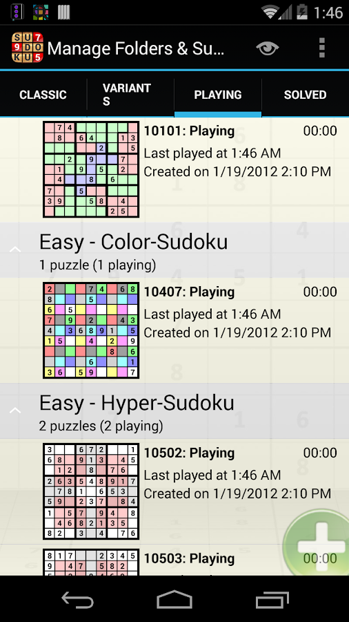 Sudoku Grab'n'Play Free- screenshot