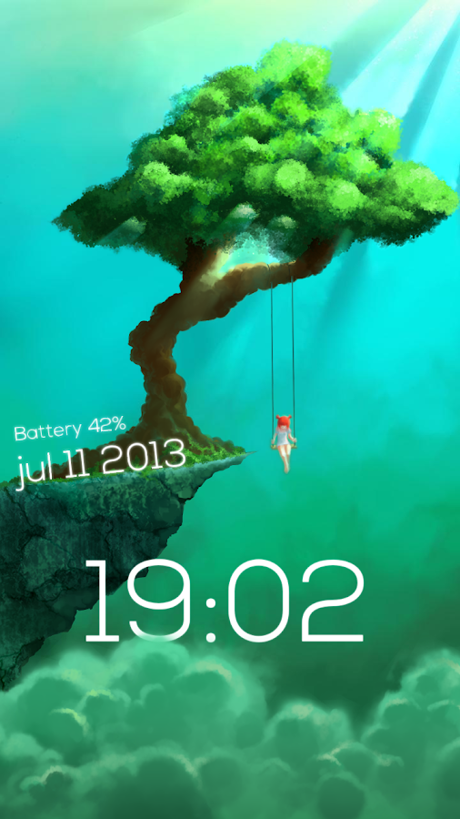 Sparky Lock Screen Lite- screenshot