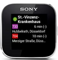 Screenshot of SmartTransit for SmartWatch