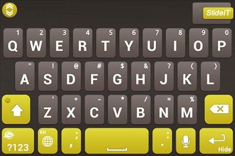 SlideIT Gold Mine Skin - screenshot thumbnail