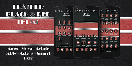 Leather Black Red Theme