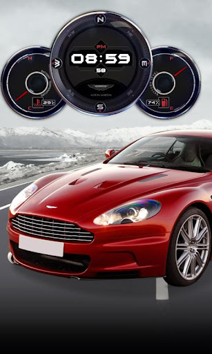 Aston Martin DBS Clock HD LWP