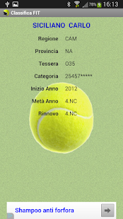 Tennis - Classifica FIT 2018- screenshot thumbnail