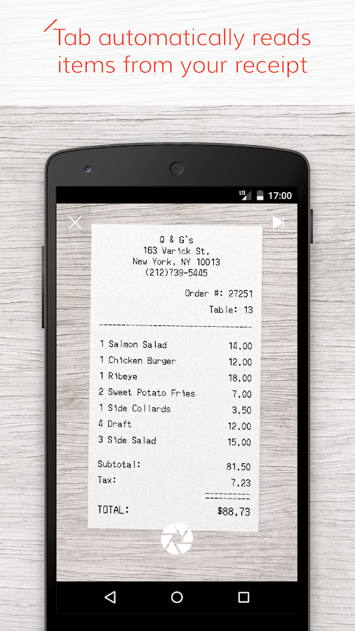 Tab - The simple bill splitter - screenshot