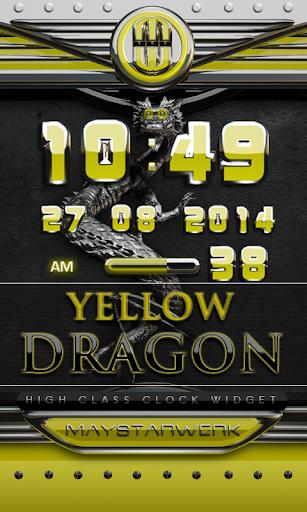 dragon digital clock yellow