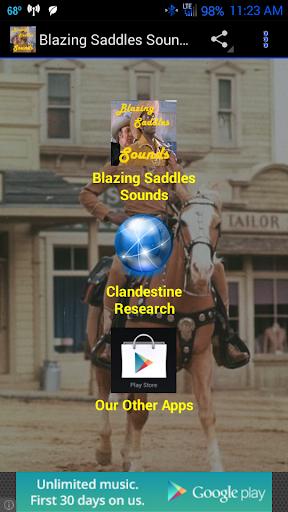 Blazing Saddles Sound Board