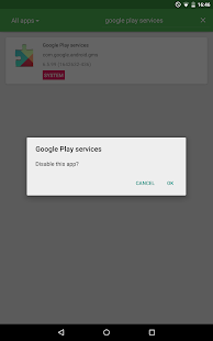 Disable Application [ROOT] Screenshot