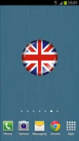 Screenshot of British Flag Badge Widget