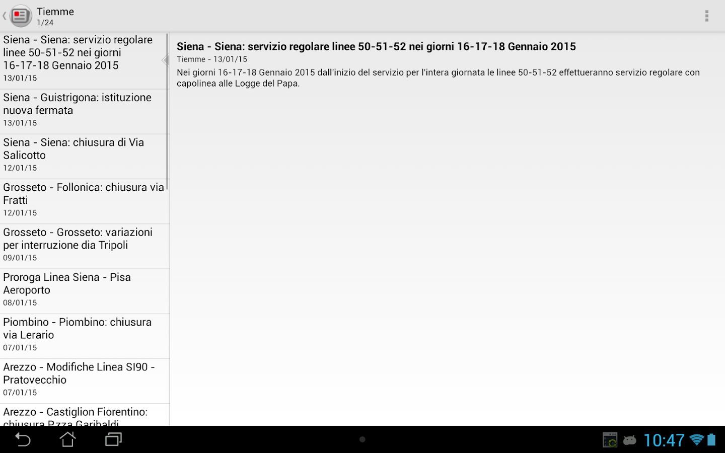 Tiemme Mobile- screenshot