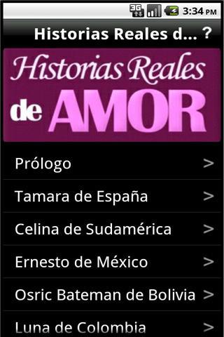 Historias Reales de Amor- screenshot