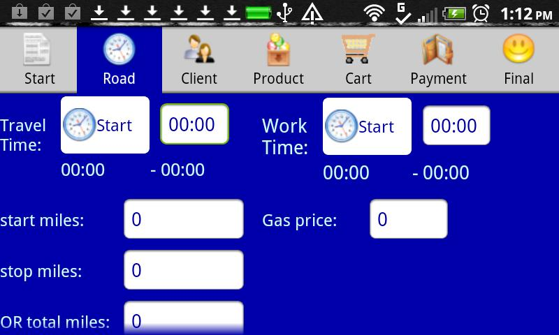 Mobile Road Warrior Invoice - screenshot