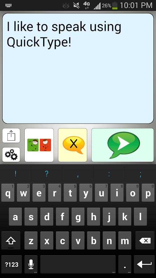 Quick Type AAC- screenshot