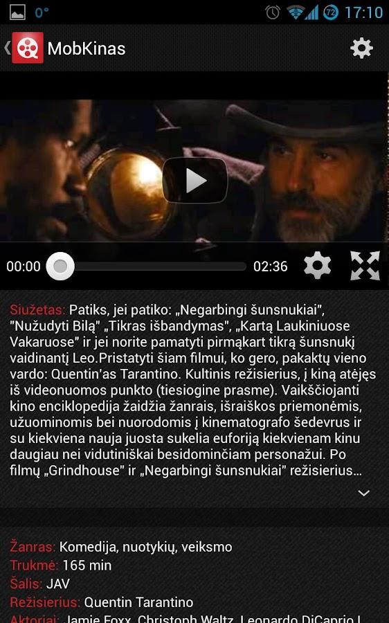 MobKinas - kino tvarkaraščiai- screenshot