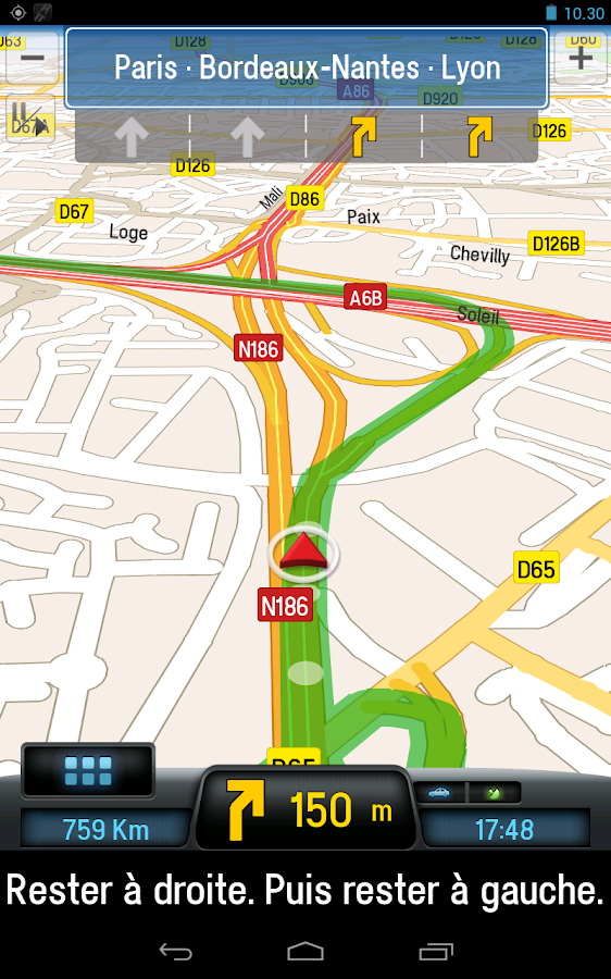 CoPilot Premium France GPS App - screenshot
