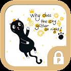Black cat mew Protector Theme icon