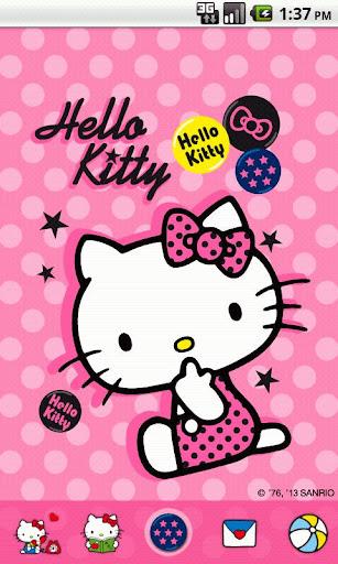 Hello Kitty Pink Badge Theme