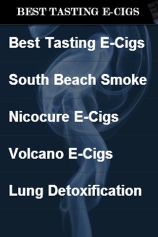 Best Tasting E-Cigs
