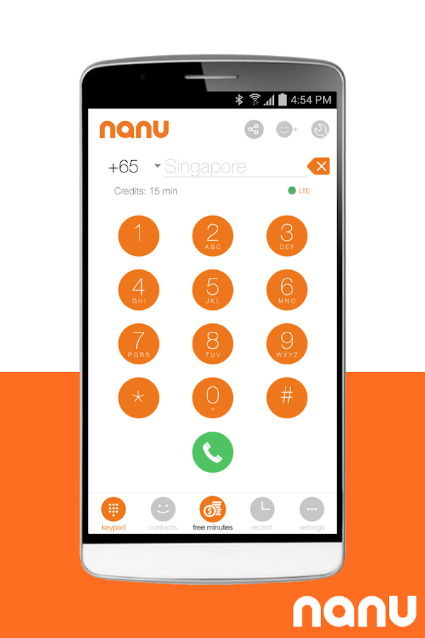 nanu - free calls for everyone - screenshot
