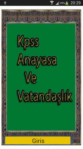 Kpss Anayasa Ders Notları