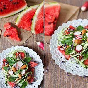 Watermelon, Cucumber, & Fresh Mint Salad