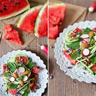 Watermelon, Cucumber, & Fresh Mint Salad.