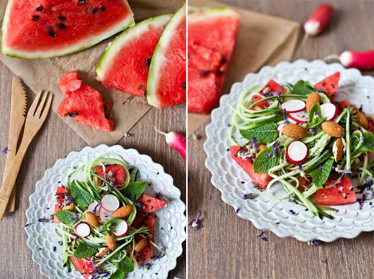 Watermelon, Cucumber, & Fresh Mint Salad Recipe