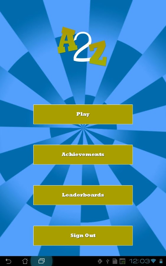 A2Z - Finger Tapping Game - screenshot