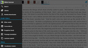 Screenshot of Bible lexicon (bible study)