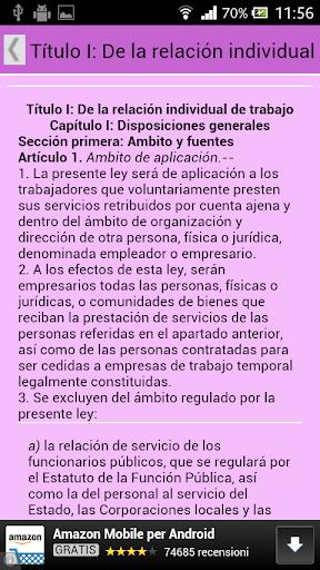 【免費書籍App】Estatuto Trabajadores ESPAÑA-APP點子