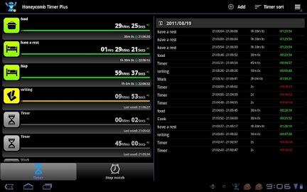 Tablet Timer & Stopwatch Pro Screenshot 1