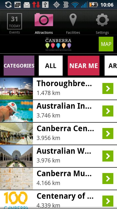 The Canberra Guide- screenshot