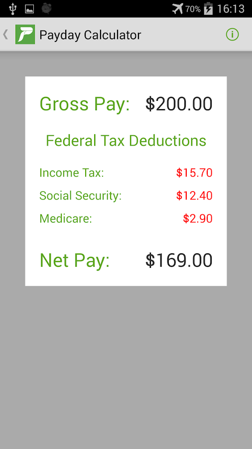 Payday Calculator Android Apps on Google Play – Net Pay Calculator