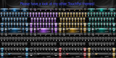 Screenshot of Theme TouchPal Flat White