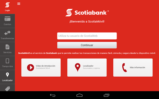 ScotiaMovil Tablet