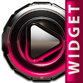 Poweramp widget Raspberry Glow