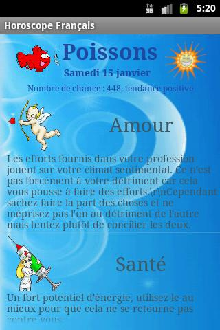 Horoscope français- screenshot