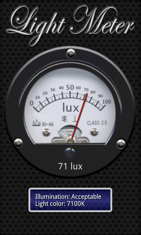 Light Meter - screenshot
