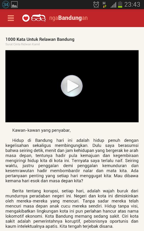 Ridwan Kamil Ngabandungan- screenshot