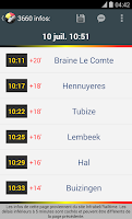 Screenshot of BeTrains - SNCB Belgium