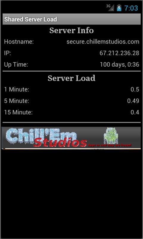Shared Server Load- screenshot
