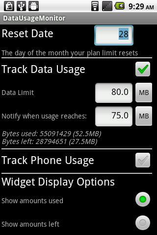 Phone Usage Gauge Widget - screenshot